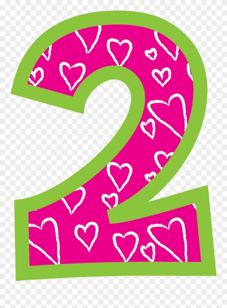 2 clipart number 2 birthday png transparent png 7051