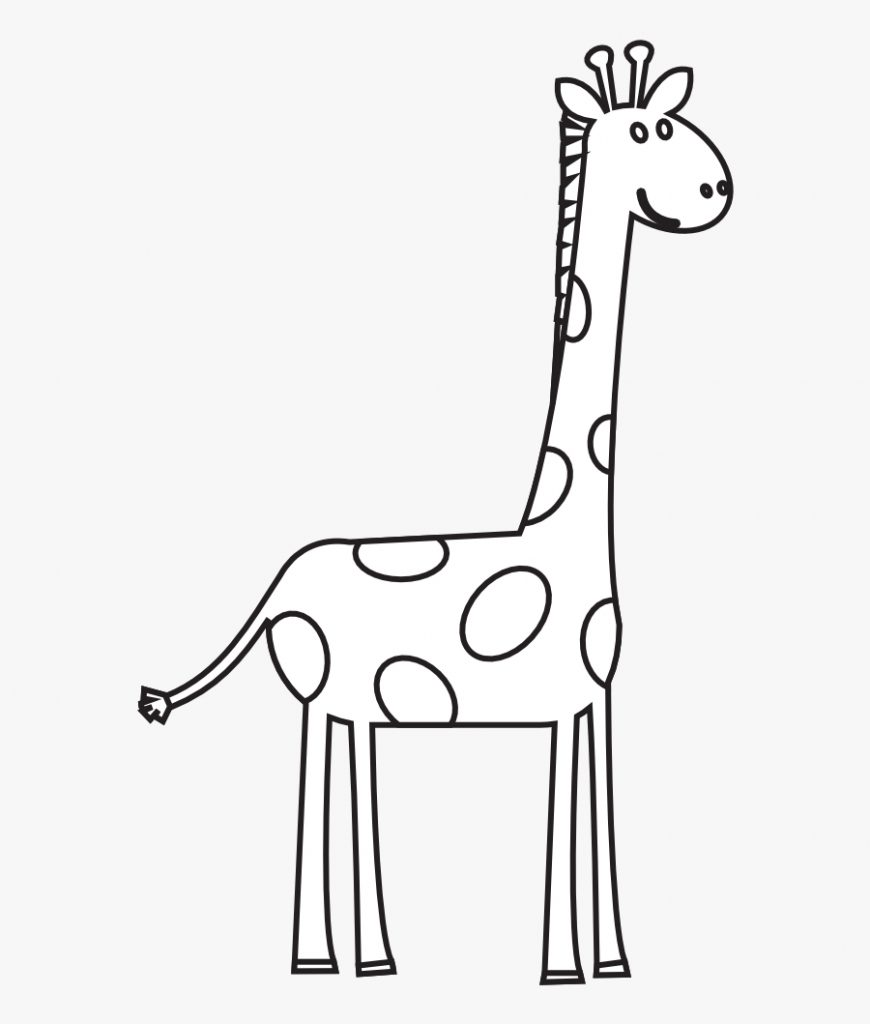 28 collection of cute giraffe clipart black and white