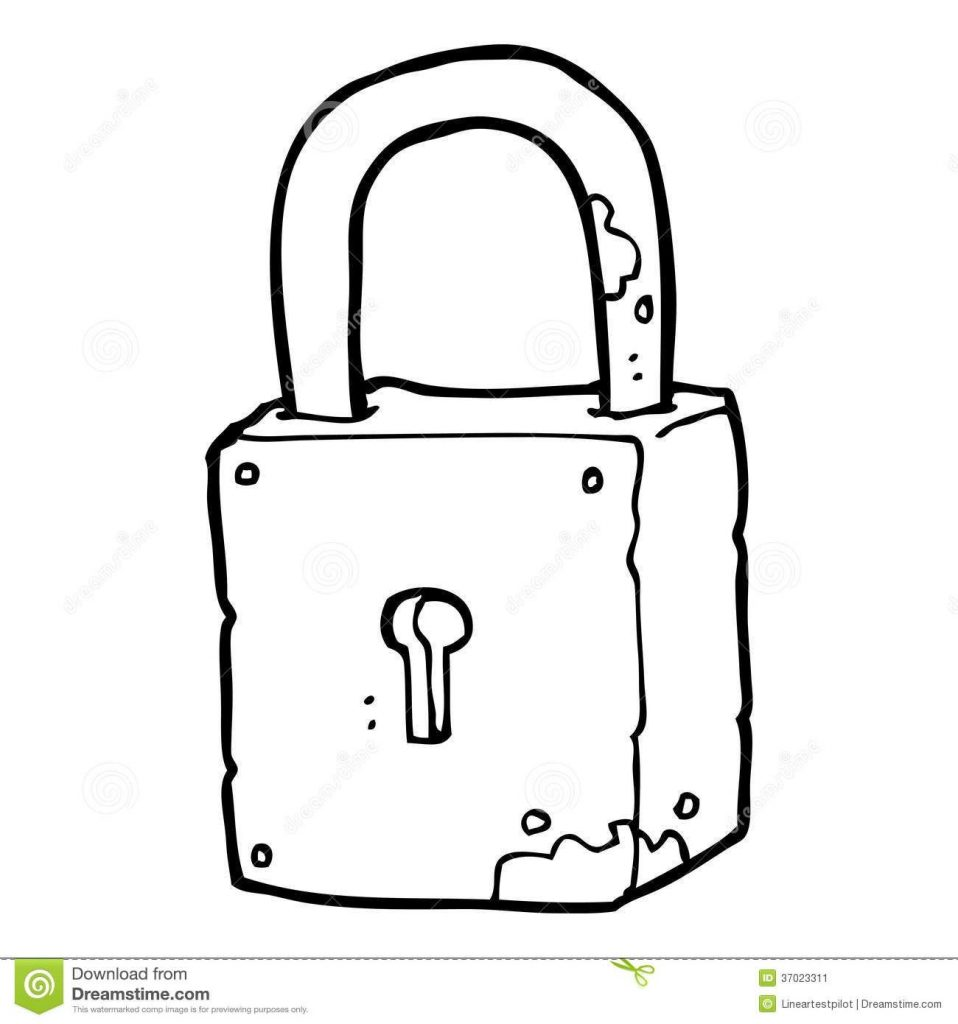 28 collection of lock and key clipart black and white