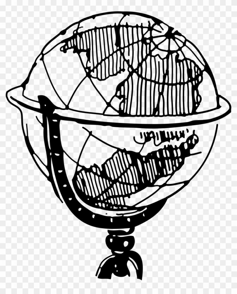8274 globe clipart black and white globe clipart black