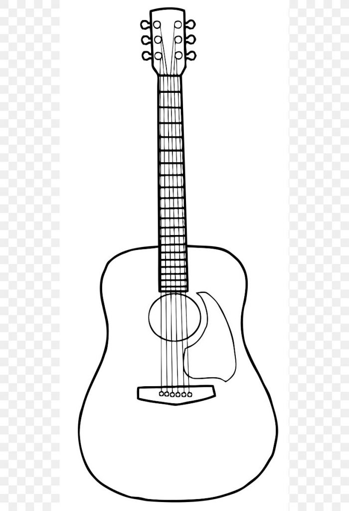 acoustic guitar drawing clip art png 539x1200px