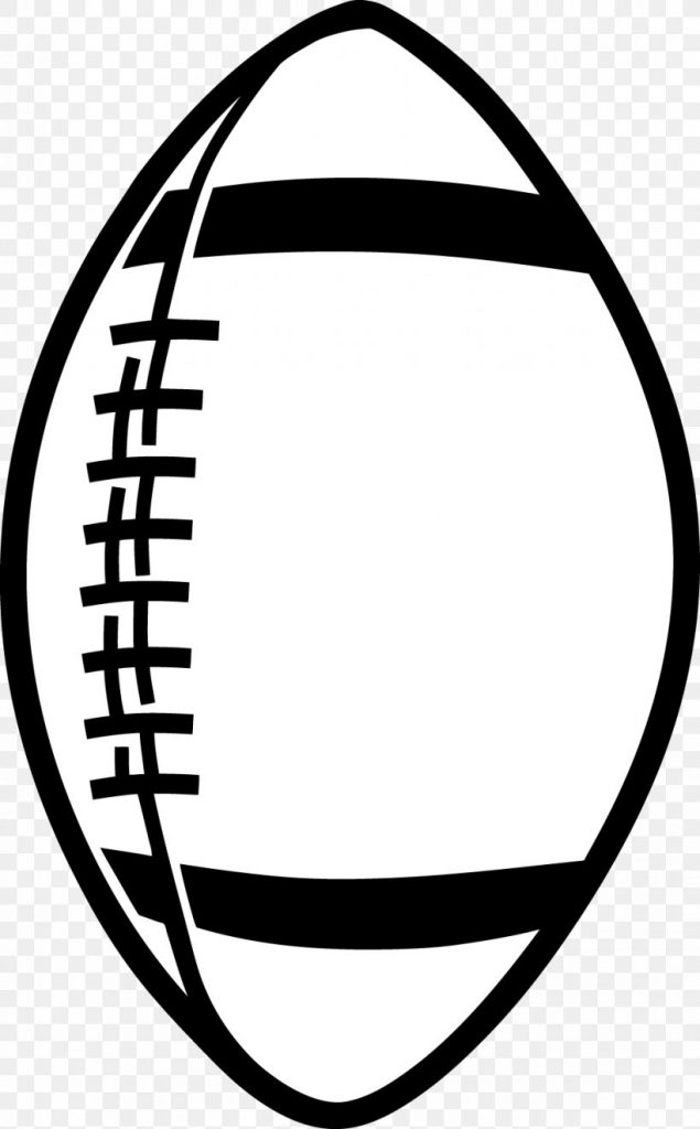 american football black and white clip art png 976x1575px