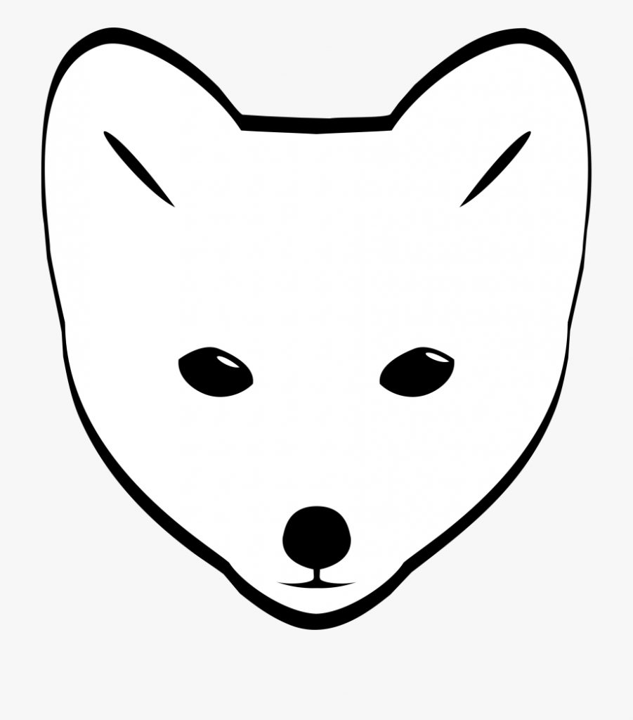 arctic fox clipart face arctic fox drawing easy