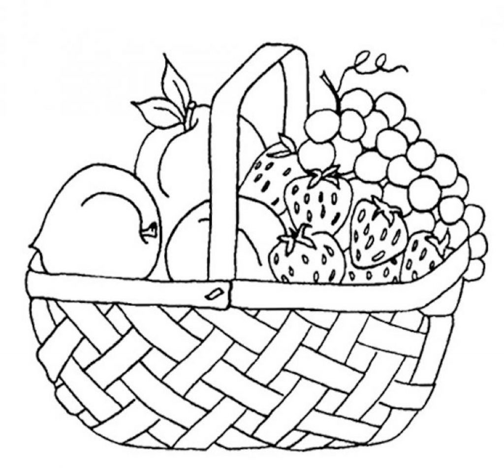 basket clipart coloring pages and other free printable