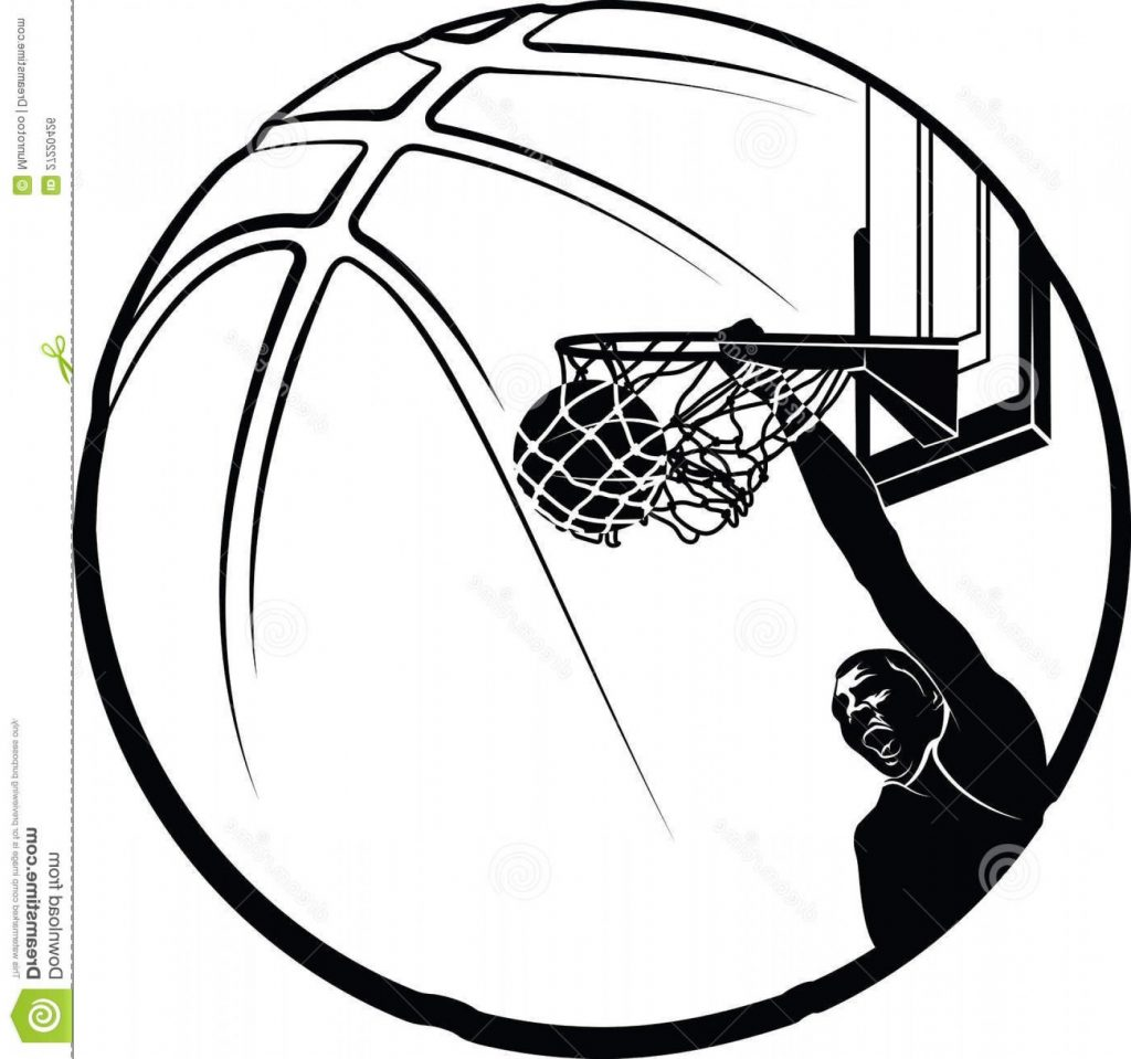 basketball player clipart black and whit 788022 png