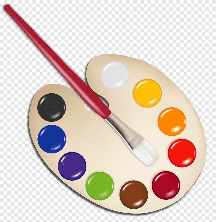 beige paint pallet illustration palette paintbrush palette