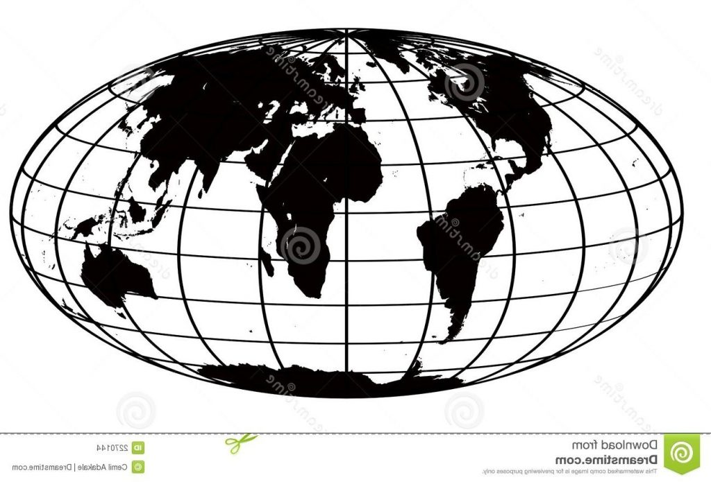 best hd globe clip art black and white vector images free