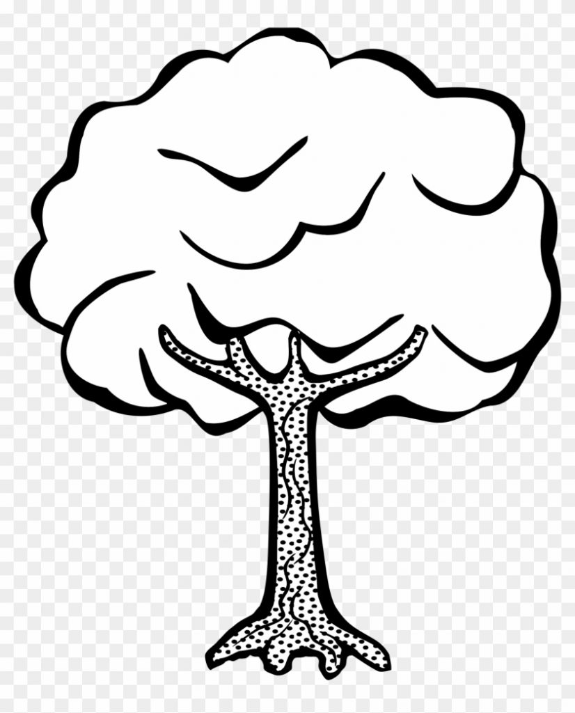 big image tree clipart black and white free transparent