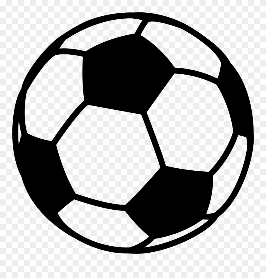 black and white football clipart soccer ball png