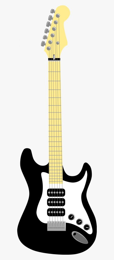 blue guitar clipart transparent background electric