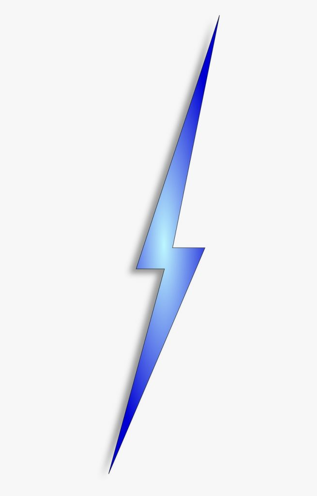 blue lightning bolt clipart hd png download kindpng