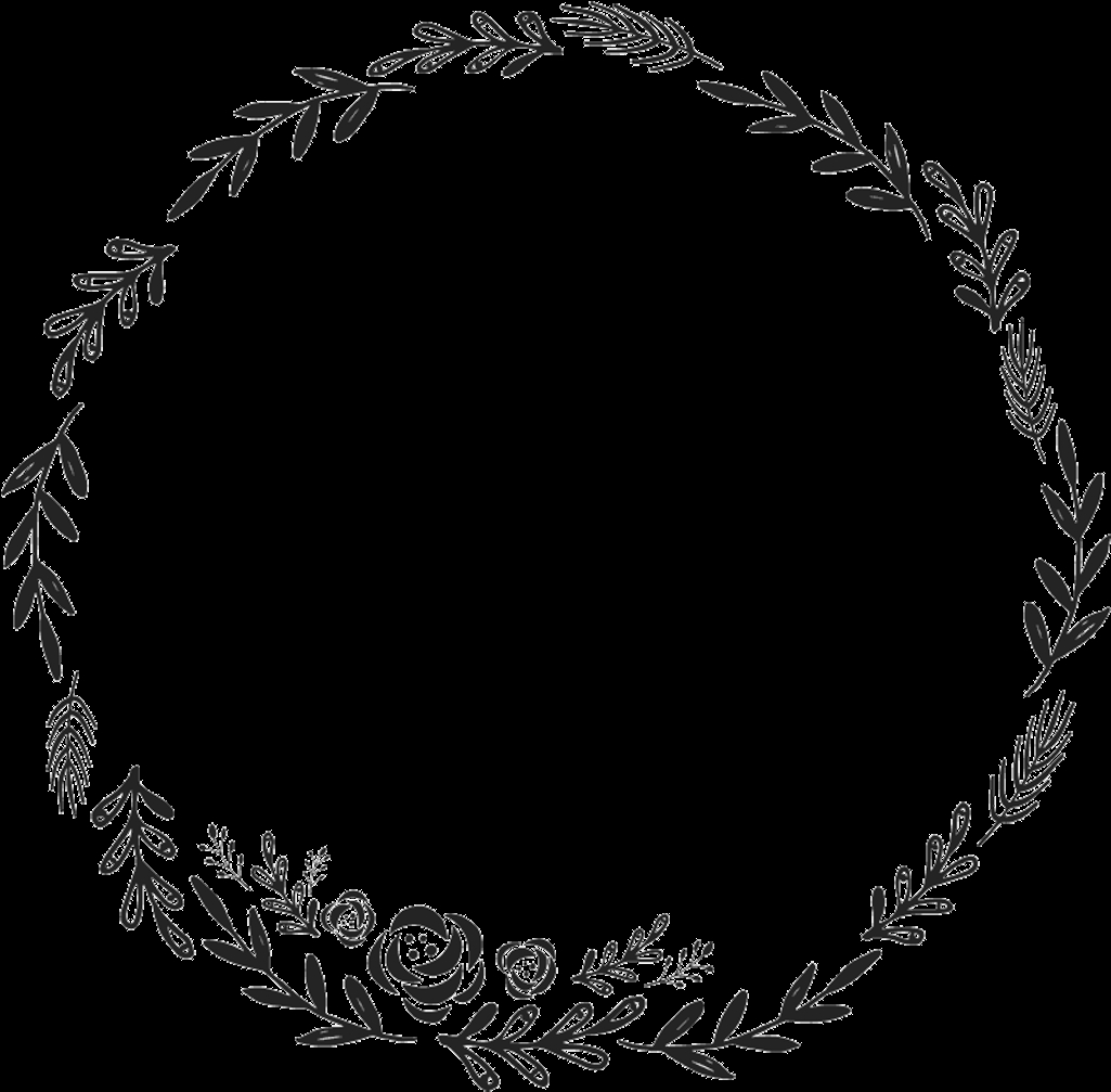 border frame wreath circle round fleaves floralwreath