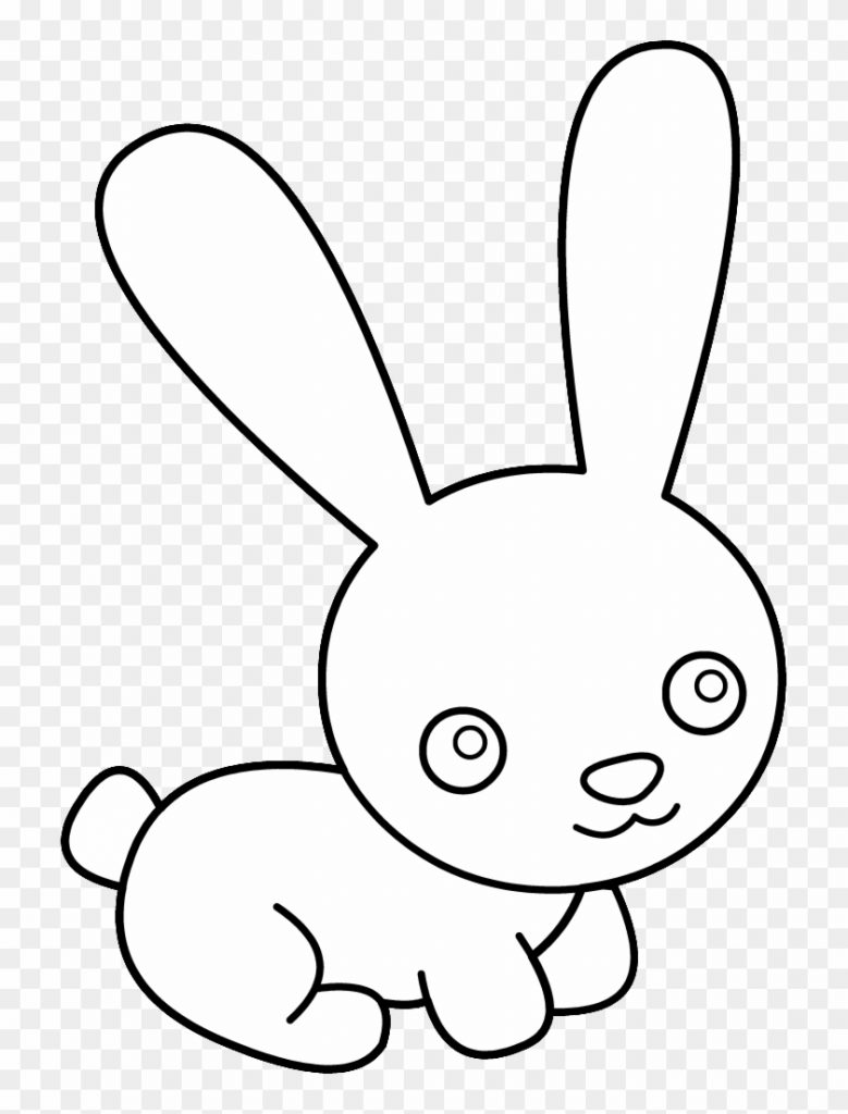 bunny black and white bunny rabbit clipart black and cute