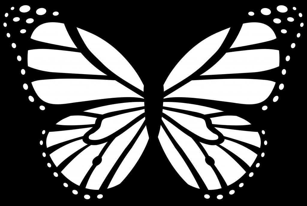 butterfly outline picture clipart free to use clip art