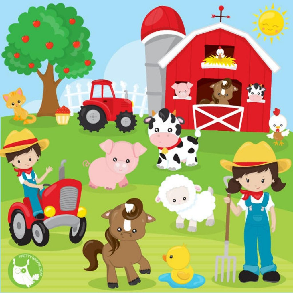 buy 20 get 10 off farm animals clipart commercial use