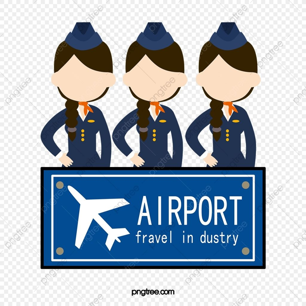 cartoon airport customer service staff cartoon clipart