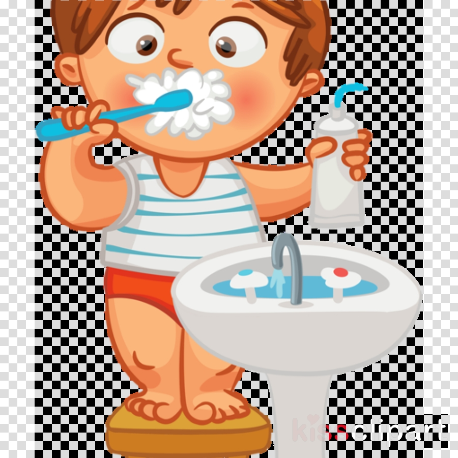 cartoon clip art tooth brushing child potty training clipart