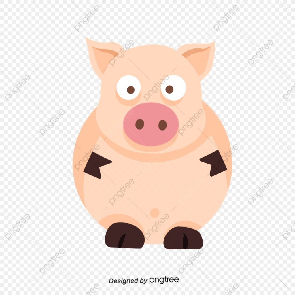 cartoon hand painted pink piglet clip art animal cartoon