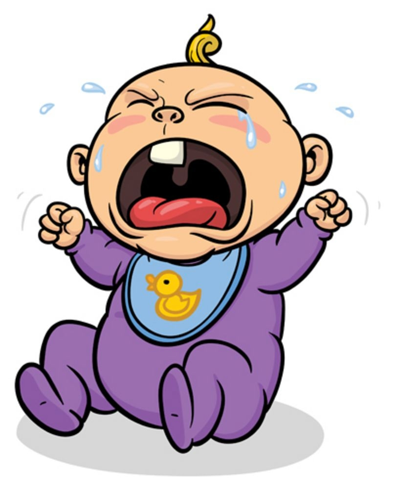 cartoon picture of ba crying clipart best clipartsco