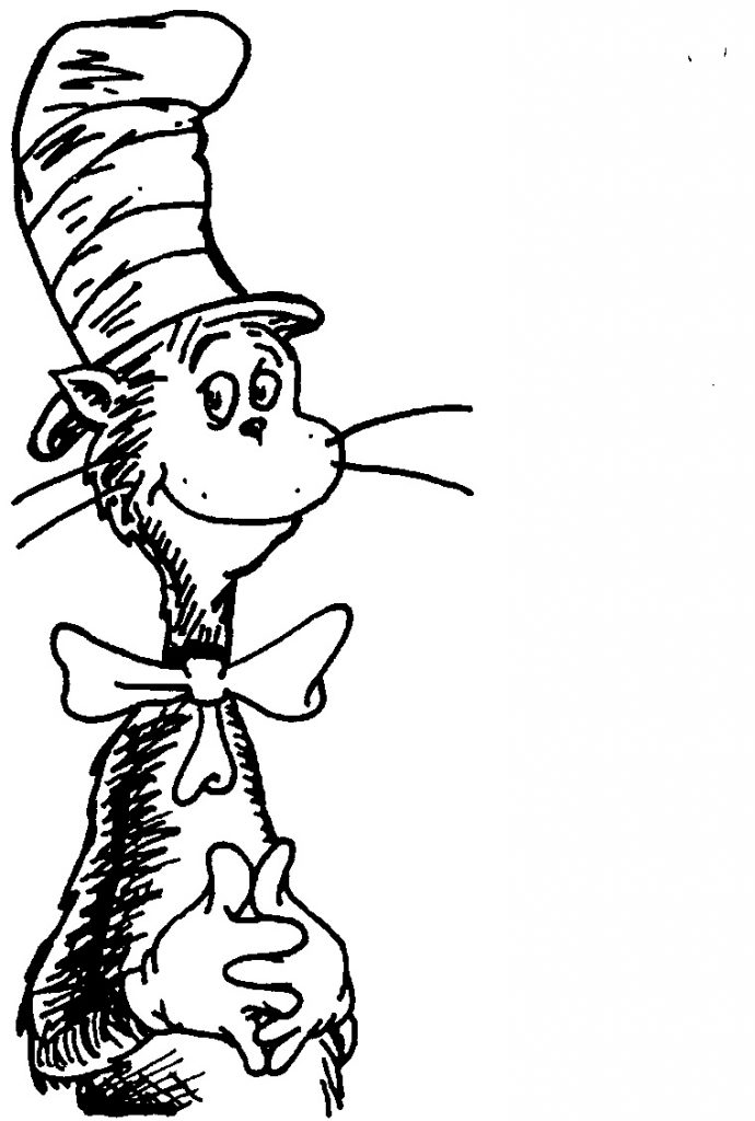 cat in the hat black and white clipart clipartix