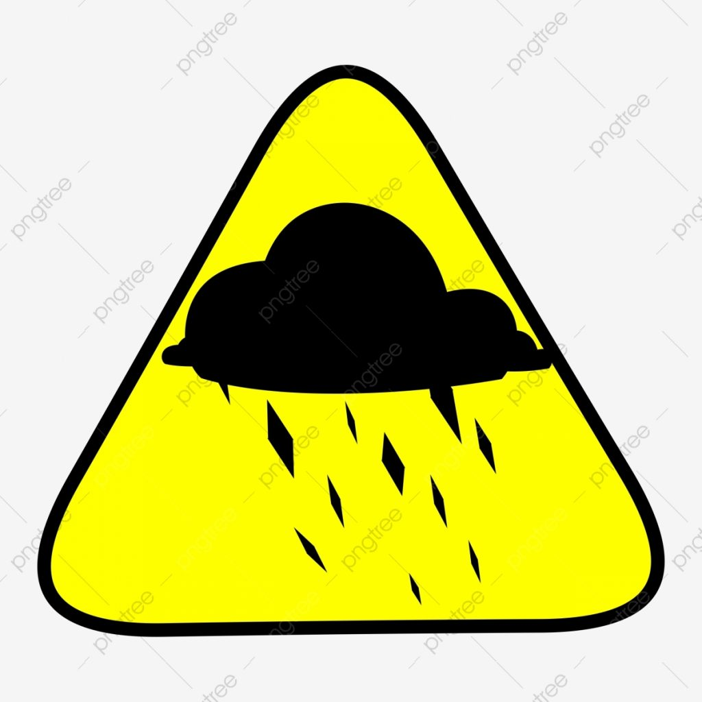caution hail warning sign triangle yellow weather png