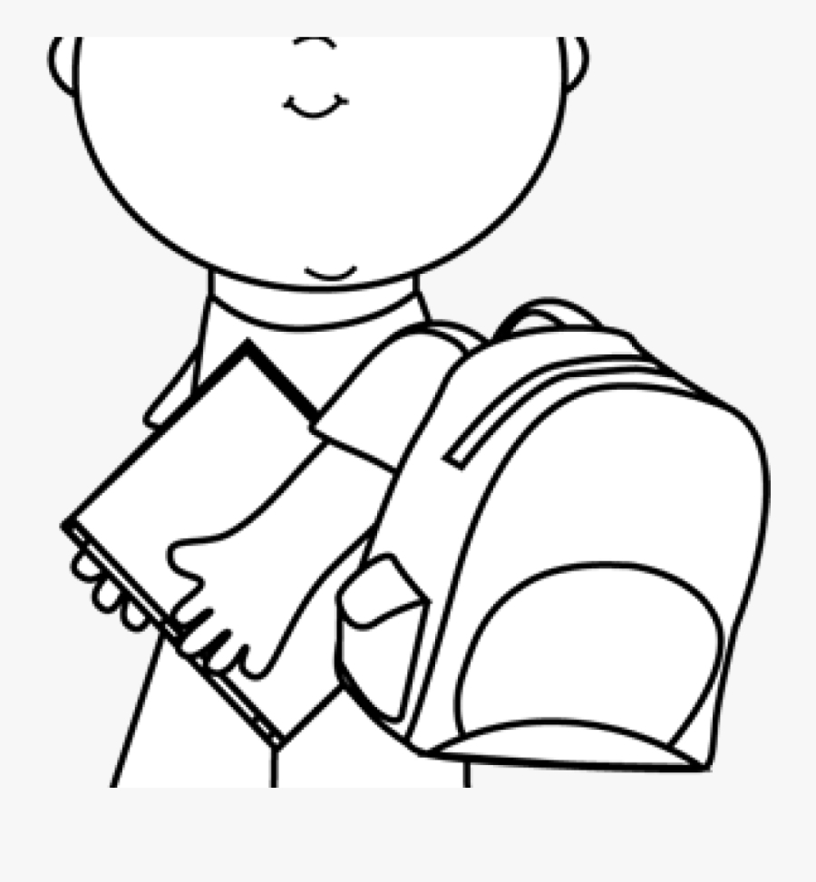 child clipart black and white black and white boy carrying