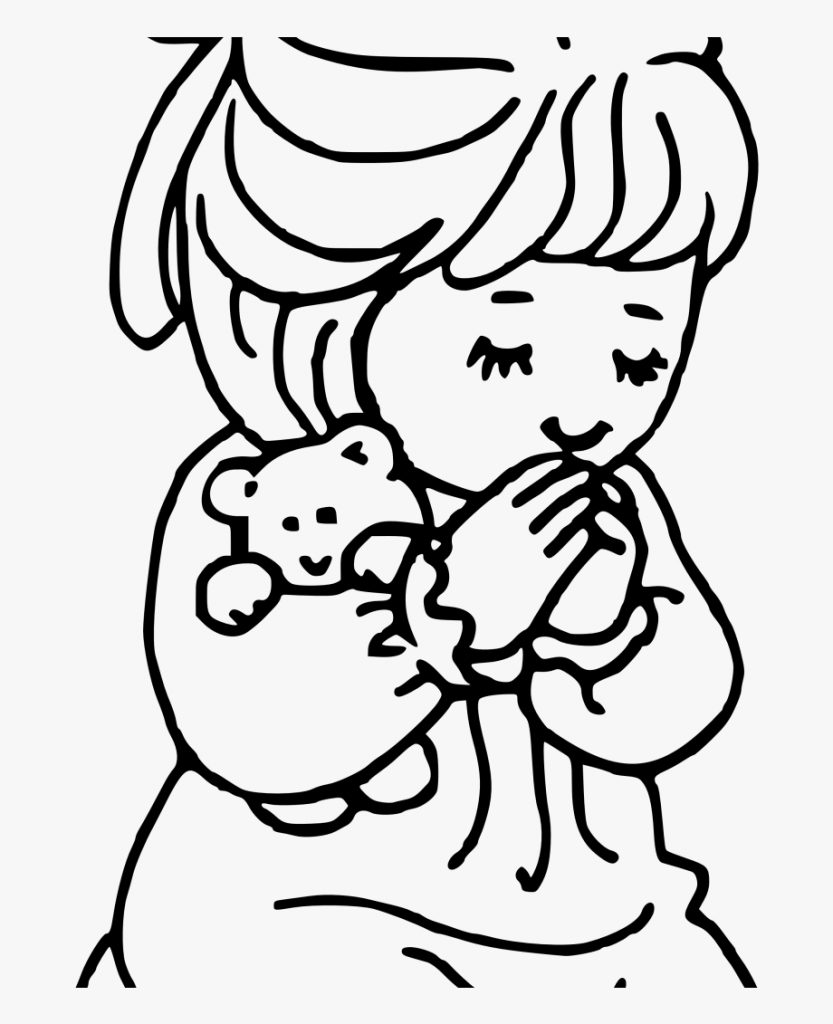 child pray clip art black and white huge freebie download