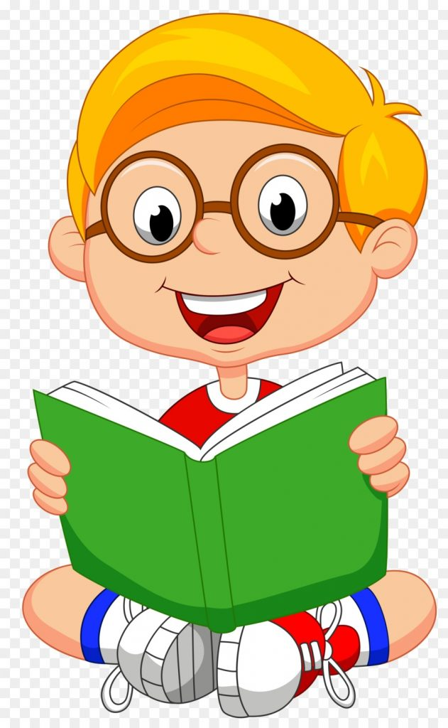 child reading book clipart book reading illustration