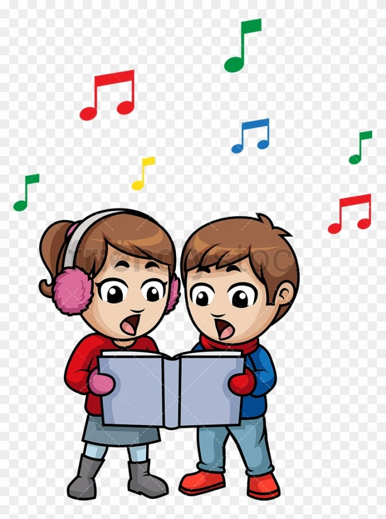 children singing cartoon free transparent png clipart