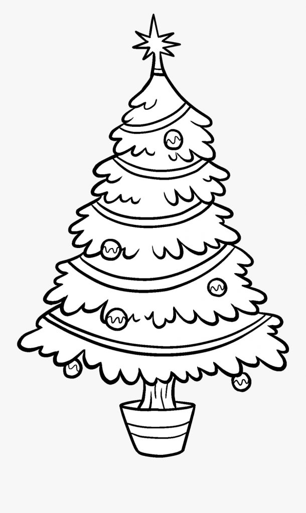 christmas tree clipart outline transparent christmas tree