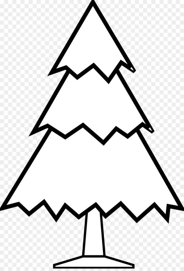 christmas tree line drawing png download 13311935 free