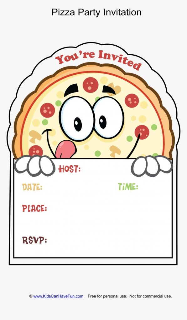 clip art pizza party invitation template pizza birthday