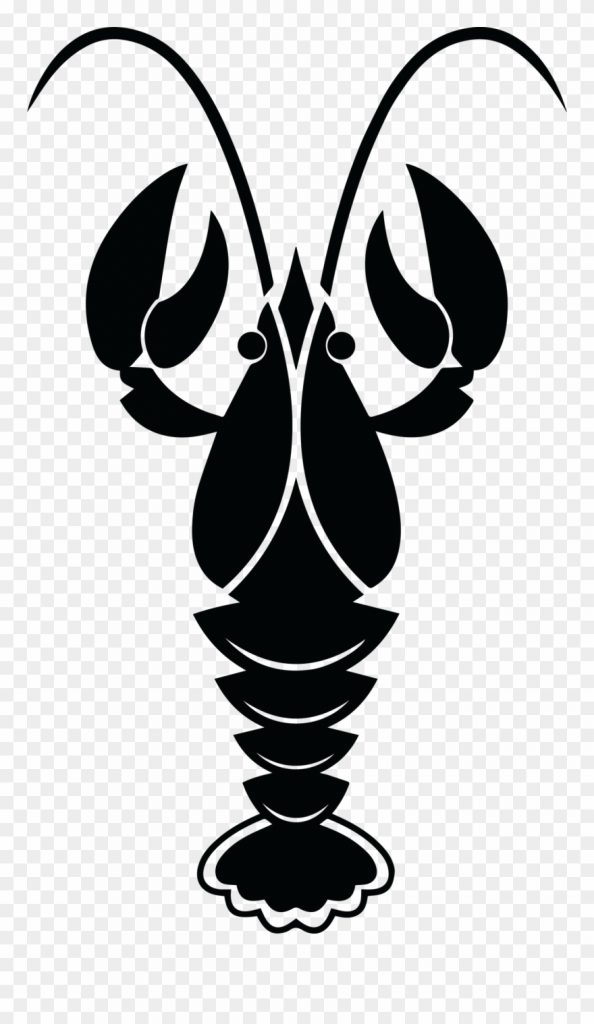 clip art transparent crawfish clipart black and white png