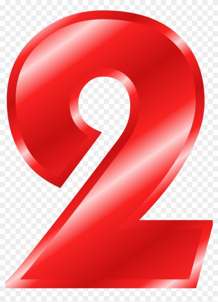 clipart numbers red pink number 2 transparent background