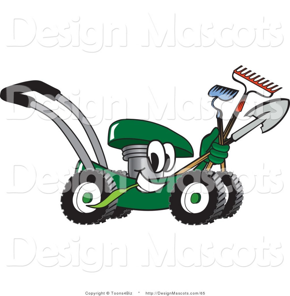 clipart of a green lawn mower royalty free toons4biz 65
