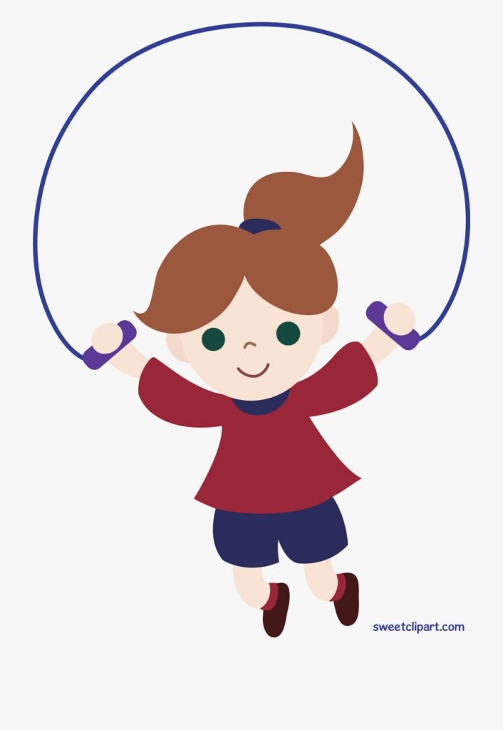 clipart of girl jumping girl jumping rope clipart