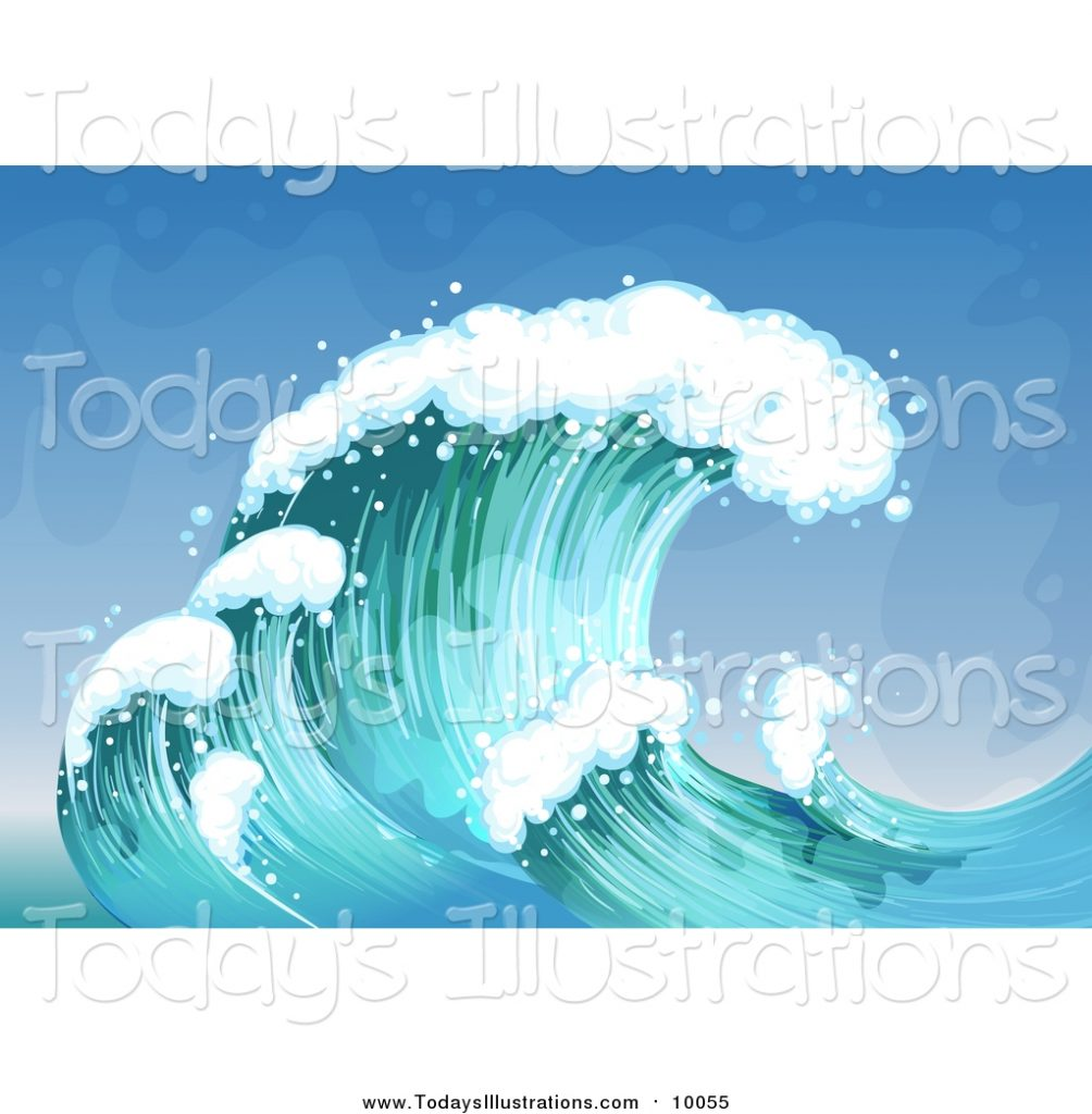 clipart of ocean waves graphics rf 10055