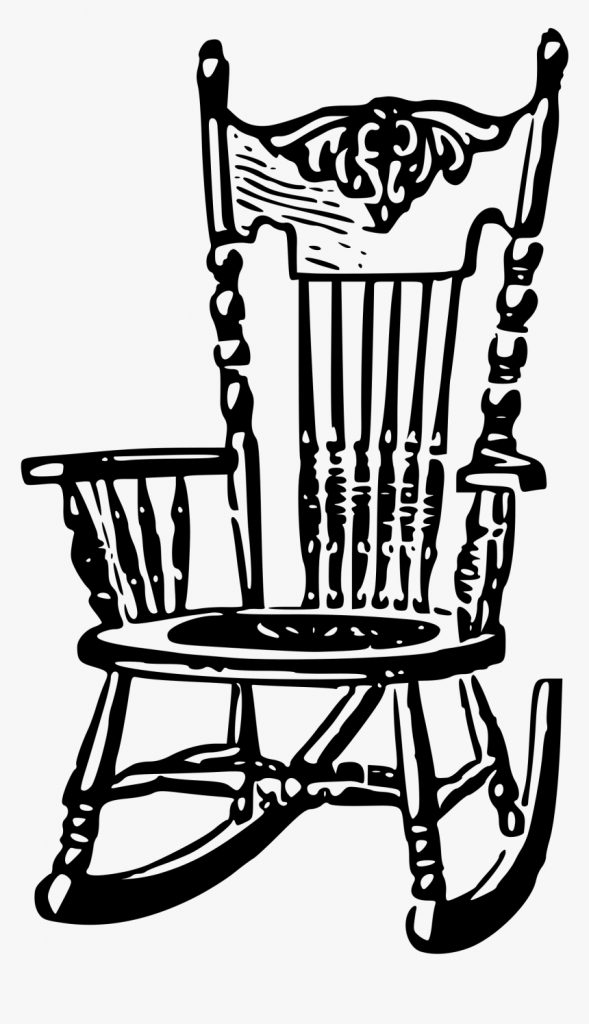 clipart rock chair black and white rocking chair clip art