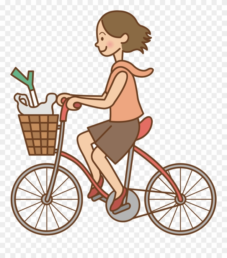 clipart transparent library woman bicycle big image riding