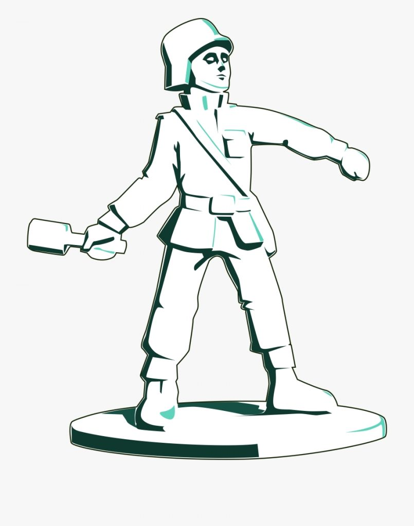 collection of toy soldier high quality coloring book