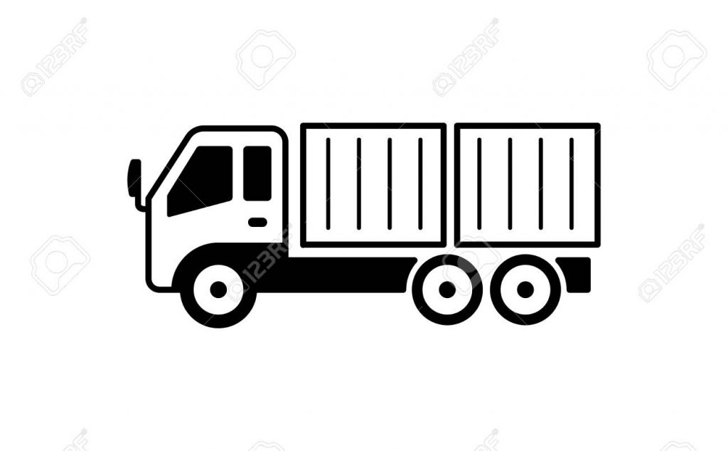 container truck illustration