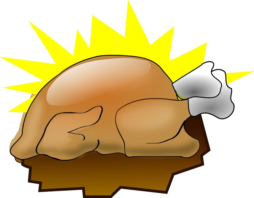 cooked turkey clipart bclipart png animated happy