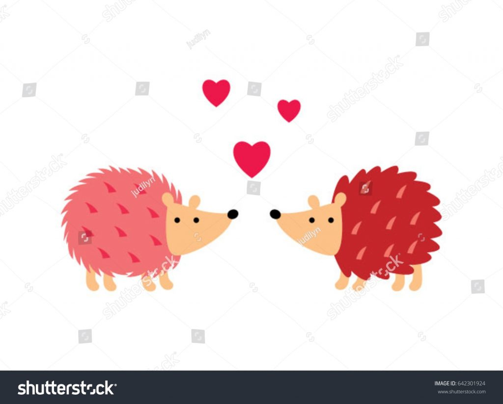 cute hedgehog love vector cute porcupine stock vector
