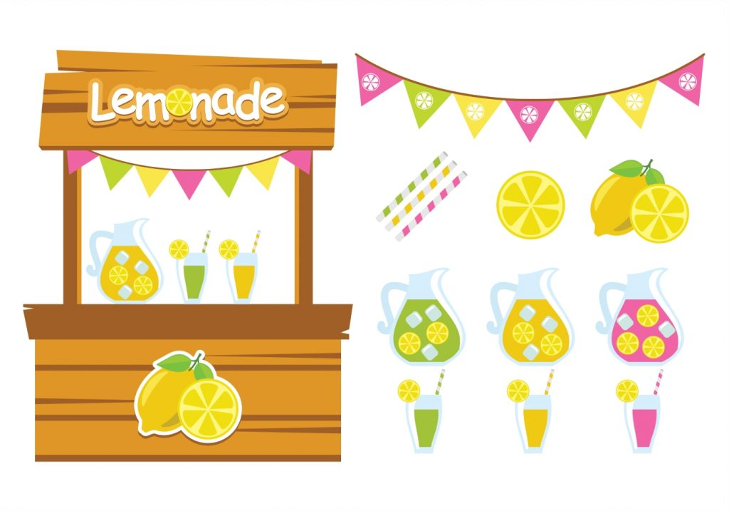 cute lemonade stand vectors download free vectors clipart