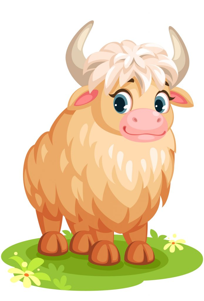 cute white yak cartoon download free vectors clipart
