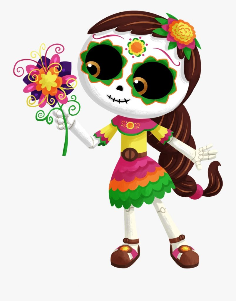 dia de los muertos days of the dead cartoon free