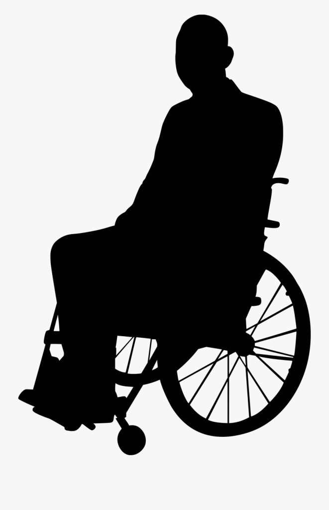 disabled png clipart person in wheelchair silhouette png