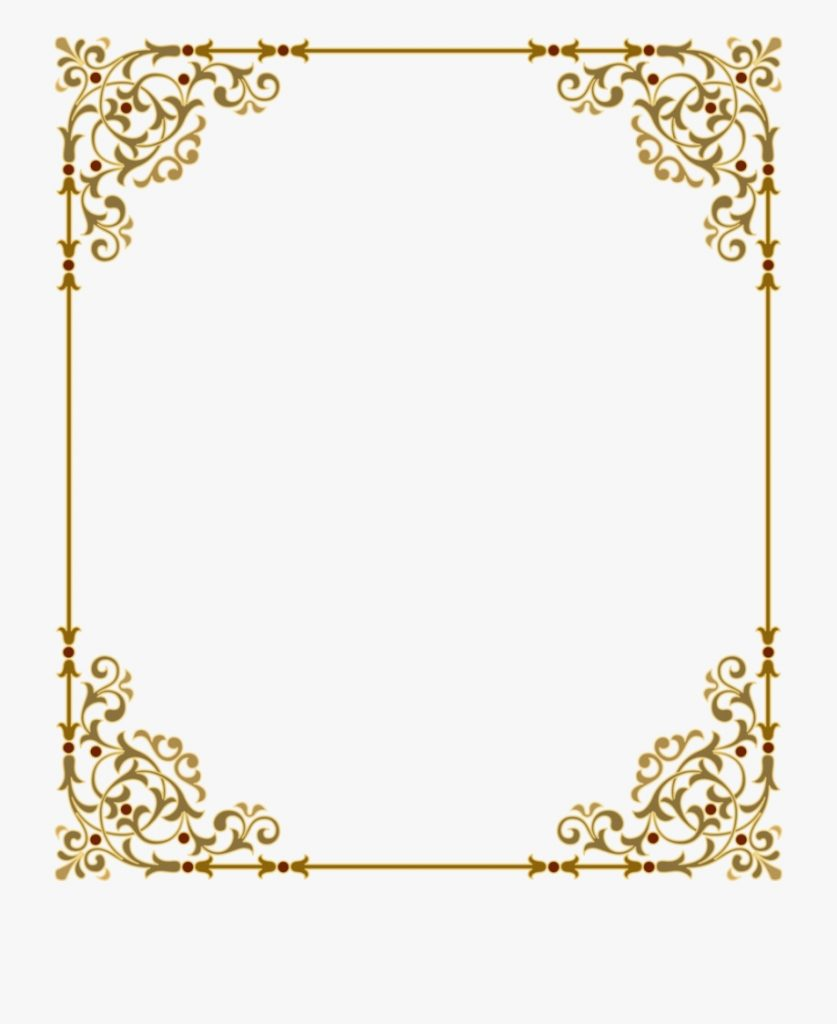 download gold frame png clipart clip art gold text border
