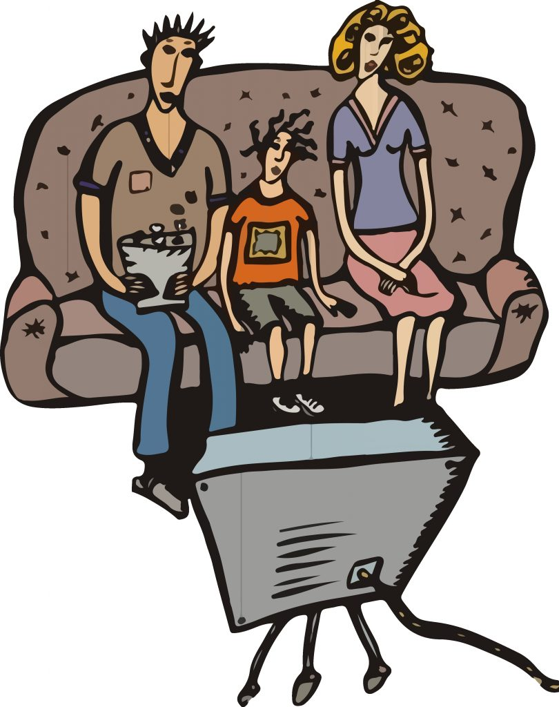 download hd png royalty free library family watching tv