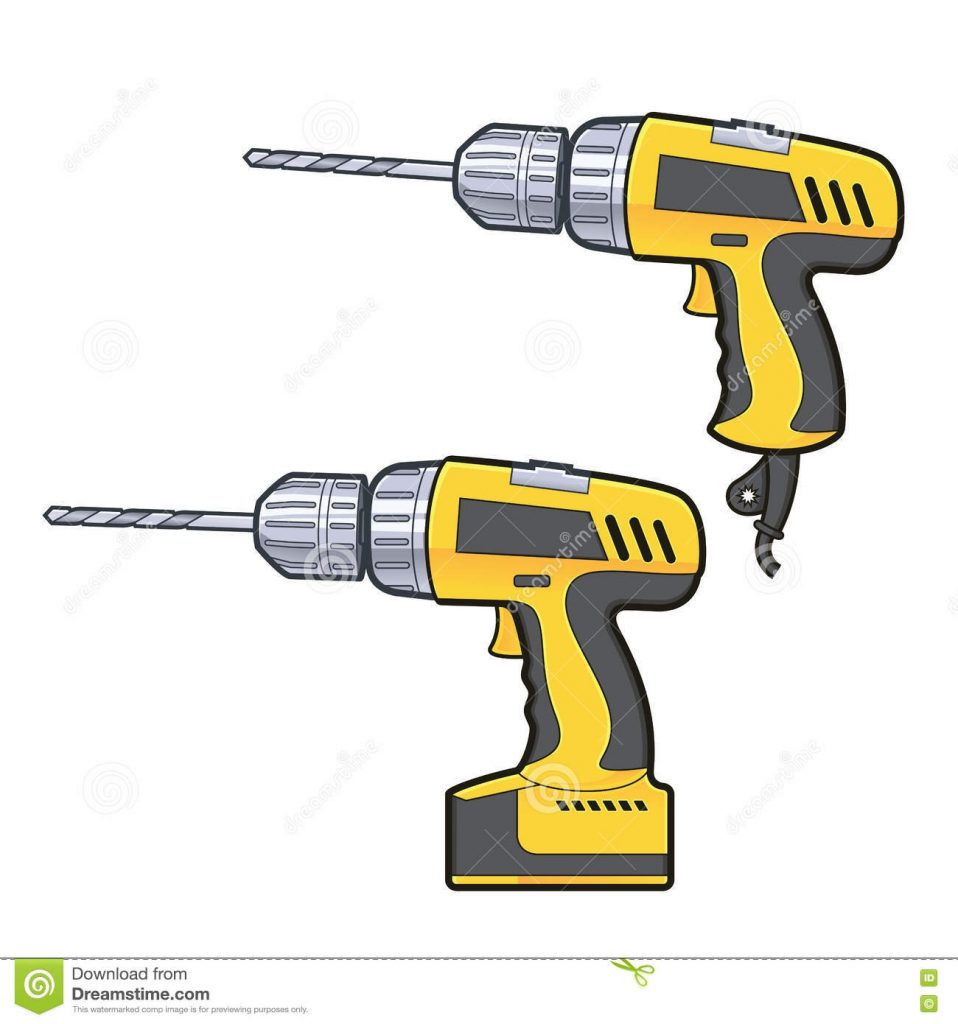 drilling machine stock vector illustration of construction